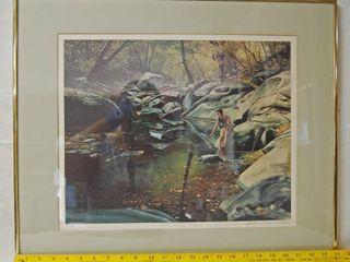 Beautiful Framed Art Print signed   numbered by Glenda Thompson Wathen