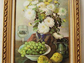 Beautiful Flower  Wine   Grapes  Framed Art Decor