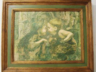 Boy and Girl Framed Art Print  The Secret   Decorative Arts
