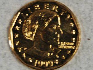 1999 Golden Tone Susan B  Anthony liberty  1 Coin