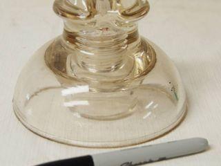 1 Very Unique Clear Glass Telephone Insulator