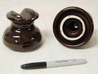 lot of 2 Porcelain Telephone Insulators