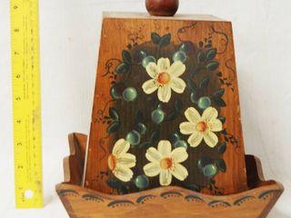 Very Nice Vintage Wood Tray w  lid