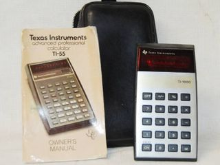 Texas Instrument Calculator  T1 55  w  Manual and Case