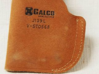 Brown leather Holster Holder  Galco J139l V STO668
