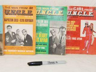 5  Paperback Books  The Man From U N C l E  Magazine