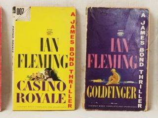 4  Paperback Books  Ian Fleming  A James Bond Thriller