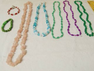 lot of 5 Necklaces and 2 Bracelets