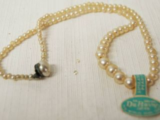 Beautiful Pearl Necklace   An Original Du Barry  Japan  The Word s Peal Center   Graduated