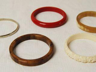 lot of 5 High Style Bangle Bracelets