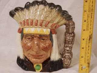 Native American Indian Chief Cup 1966   WOW
