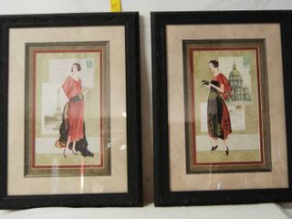 2 Framed Wall Pictures   High Fashion Style   see Photos for Sizes