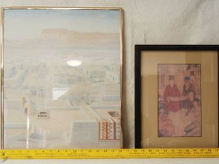 Framed Old Wall Art Pictures   Navajo and Japanese Themed