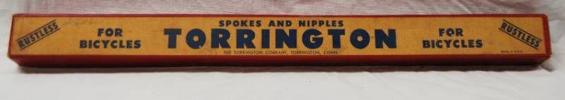 Vintage Torrington Bicycle Spokes   Nipples w  Original Box