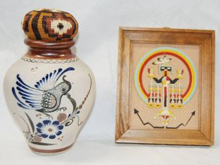 Unique Bird Vase  and A  Spirit Four Forces  Picture See Photo for Reading of Back of Pic