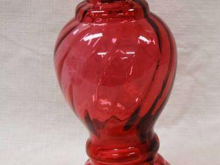 Cranberry Fenton Glass Vase