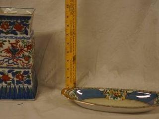 Asian Vase and Trinket Holder