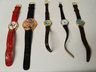 lot of 5 Fashion Watches  Christmas one and Halloween one  ect