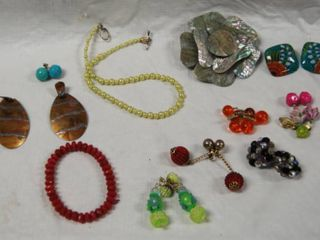 Assorted Jewelry  Necklace  Bracelets  and Ear Rings
