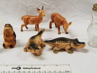 lot of 5 Vintage Collectable Animal Salt and Pepper Shakers