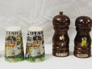 lot of 4 Sets Collectible Salt and Pepper Shakers