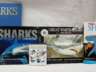 lot of 5  Shark Books