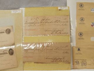 lot of Vintage Postcards and Receipts