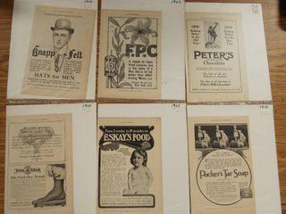 lot of 6 Vintage Magazine Advertisements