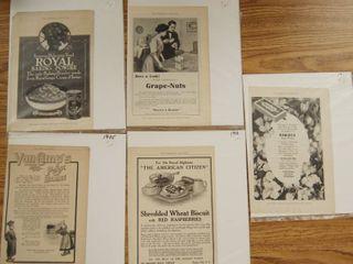 lot of 5 Vintage Magazine Advertisements