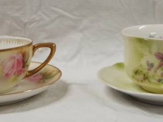 lot of 2 Vintage Tea Cup and Saucer Very Pretty