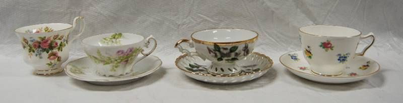lot of 3 Vintage Tea Cups and Saucers  with a Extra Tea Cup Great Find