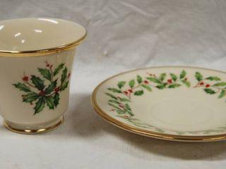 Vintage  Christmas  Tea Cup and Saucer