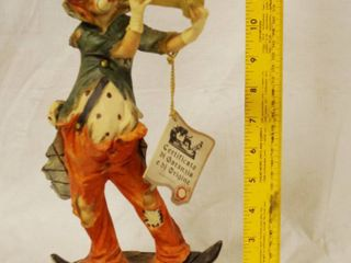 Nice Italian Clown Statue w  original tags  highly collectible