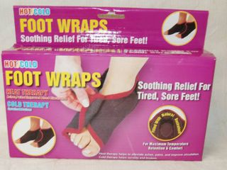 Foot Wraps   Hot or Cold   NEW IN BOX   For Tired  Sore Feet