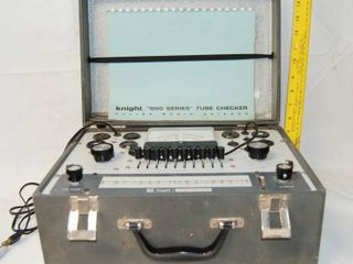 Vintage Electronic Tube Checker KNIGHT  600 SERIES  Portable in Case with Original Instruction Manual  WOW
