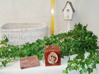 lot of Awesome Home Decor   Greenery  Cool basket and Garden Decor