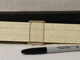 Vintage Slide Ruler in Original leather Case   A neat find