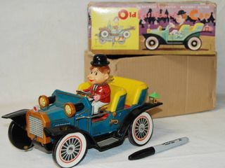 Vintage Metal Car  Old Fashioned Car   Battery Operated  A Have To Have
