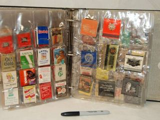 BIG Matchbook Collection   In Binder with Protective Plastic Pouches  See Photos