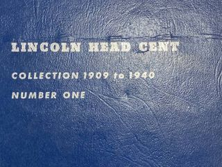 Book of lincoln Head Cent   Collection 1909 to 1940 vol  One   Includes 1909 VDB