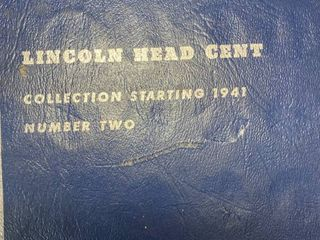 Book of lincoln Head Cent   Collection Starting 1941 vol  Two   Includes 1943 Steel  War  Pennies