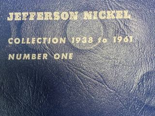 Book of Jefferson Nickel   Collection 1938 to 1961 vol  One   Includes Some Silver Nickles