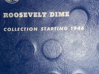 Book of Roosevelt Dimes   Collection Starting 1946   Silver Dimes   look at All Pictures