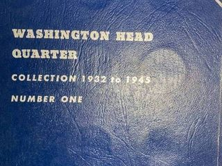 Book of Washington Quarters   Collection 1932 to 1945 Vol  One   Silver Quarters