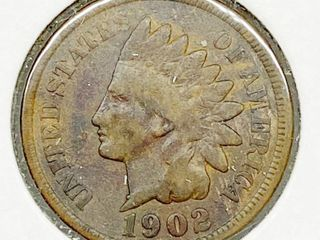 1902 Indian Head Penny   One Cent