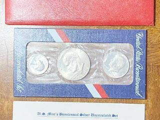 United States Bicentennial SIlVER Uncirculated Set   1776 1976