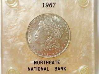 1921 Morgan Silver Dollar   1967 Advertising NORTHGATE National Bank   Hutchinson  KS