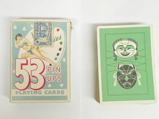 Vintage WESTERN WORlD Playing Card Co    Very Cool Art Work