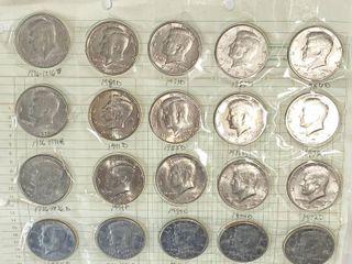 Big lot of Kennedy Half Dollars