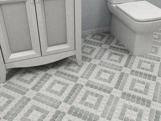 SomerTile 11 75x11 75 inch Scholar Bazaar Grey Porcelain Mosaic Floor and Wall Tile  10 tiles 9 79 sqft
